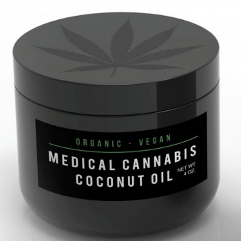Medical Cannabis Coconut Oil - 4 oz - Cooking Oil - Holistic Nutrition